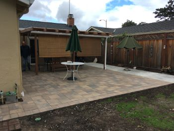 A picture of stamped patio in Sunnyvale.